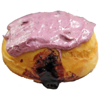 Blueberry Filled Doughnut